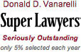 Donald D. Vanarelli was named to the New Jersey Super Lawyers list in years 2007–2014.