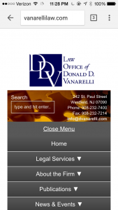 The Law Office of Donald D. Vanarelli Launches https://vanarellilaw.com Website.