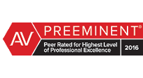 AV Preeminent rating from the Martindale-Hubbell rating system