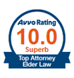 Avvo Rating 10.0 Superb Top Elder Law Attorney 07090