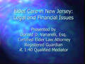 Elder Care in New Jersey: Legal and Financial Issues PowerPoint Presentation