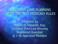 New Medicaid Rules PowerPoint Presentation